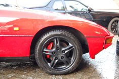 "Porsche 924S 16"" Spoke Wheels in Smooth Matt Black"