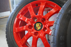 "Porsche Cayenne 17"" Wheels in High Gloss Red"
