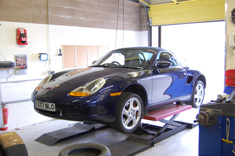 Porsche 986 Boxster S on the ramp