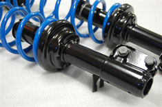 Porsche 944 strut and spring assembly powder coated